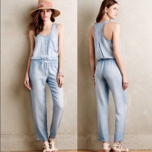 Anthropologie Cloth & Stone Chambray Jumpsuit